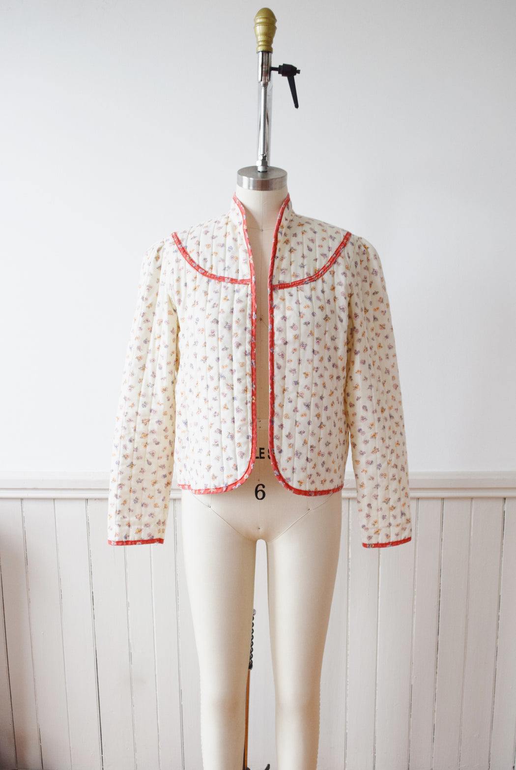Maggie's Farm Quilted Spring Floral Jacket | 1970s | S
