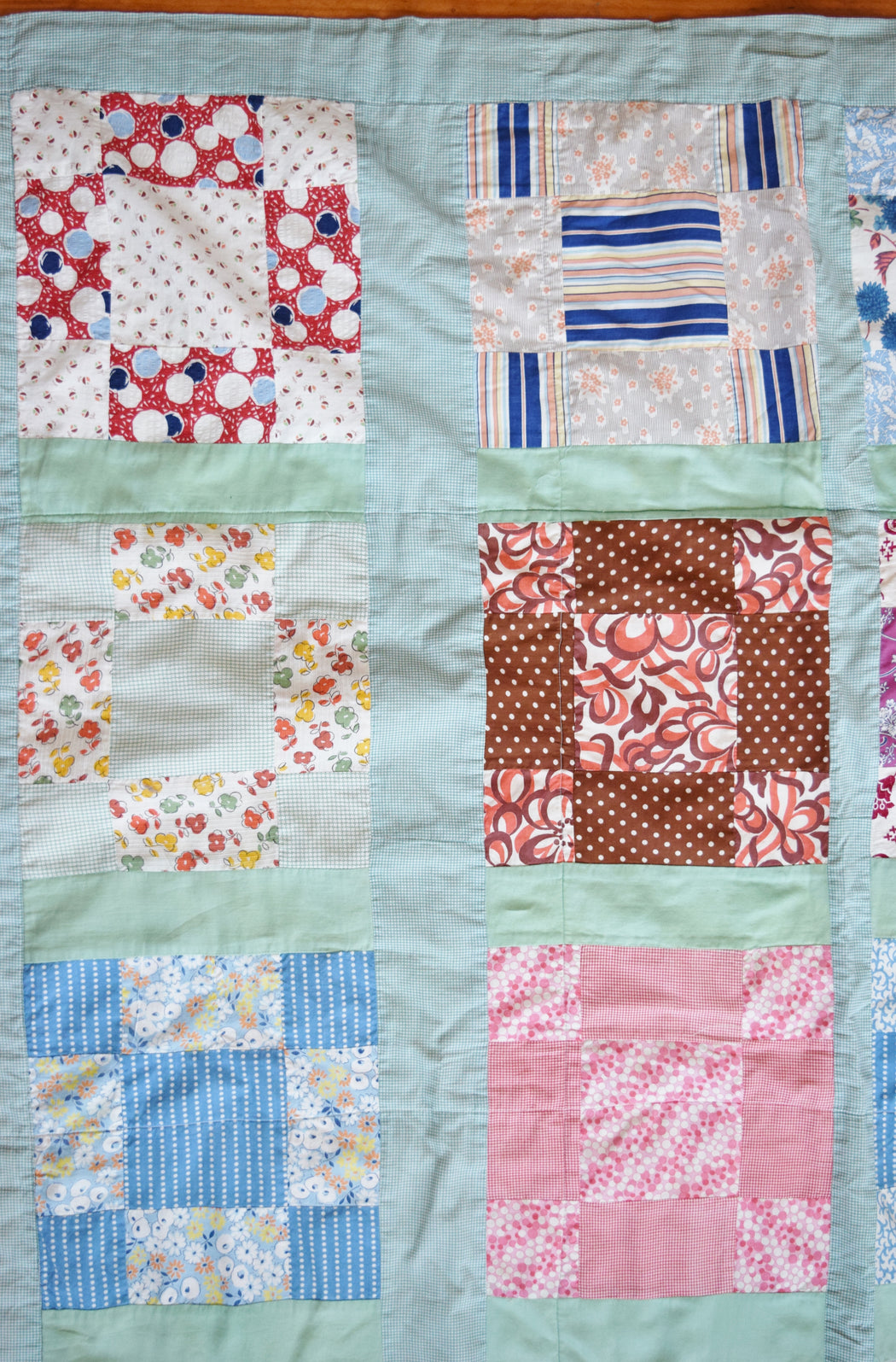 Vintage Mixed Print Quilt / Coverlet