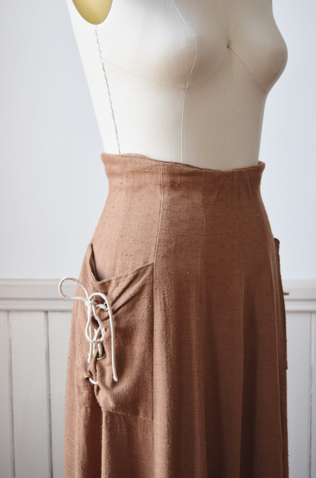 1940s Laced-Pockets Skirt | S