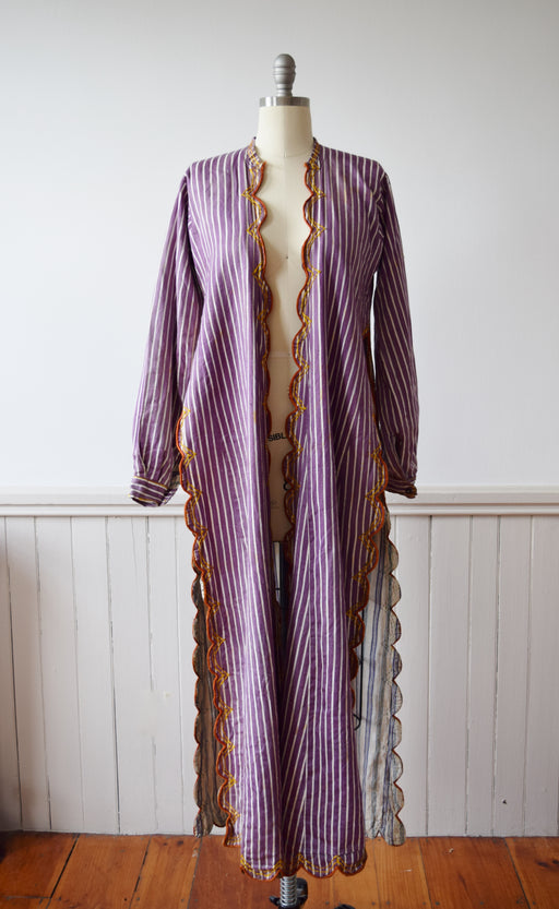 Antique Turkish Robe / Duster Jacket | c. 1900 | S