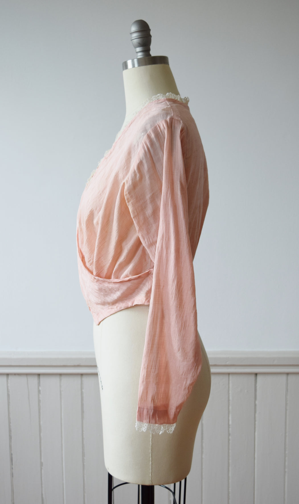 Edwardian Wrap Blouse | 1910s | S/M