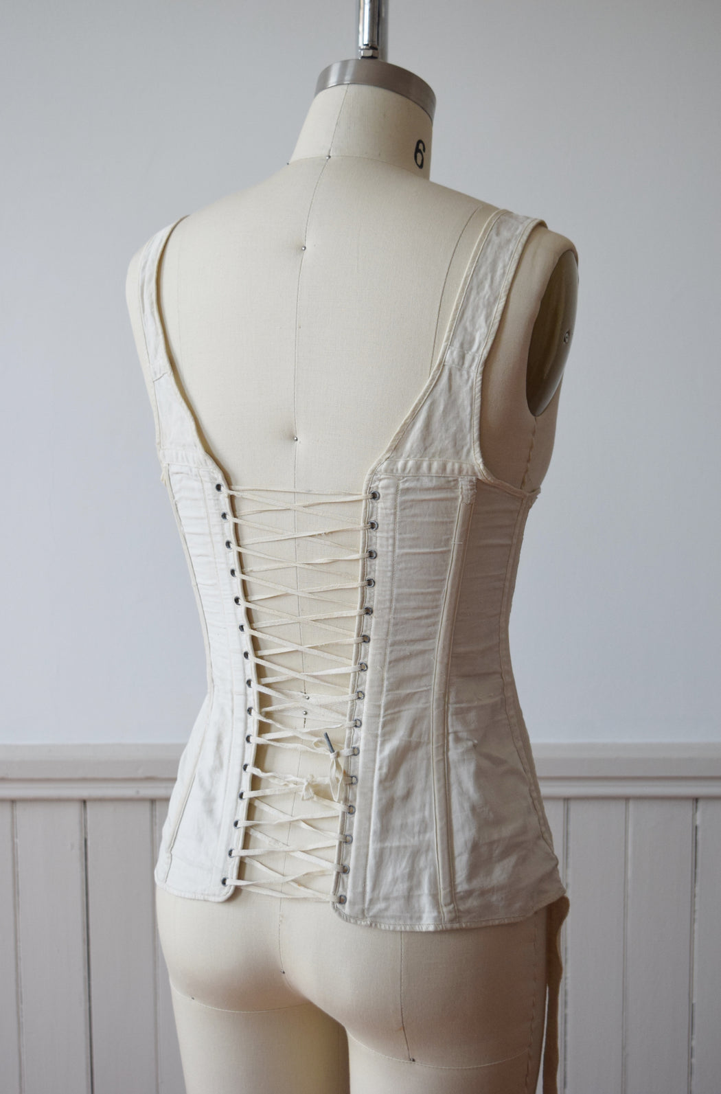 Antique Edwardian Era Corset Waist by Ferris Bros. | XXS-XS