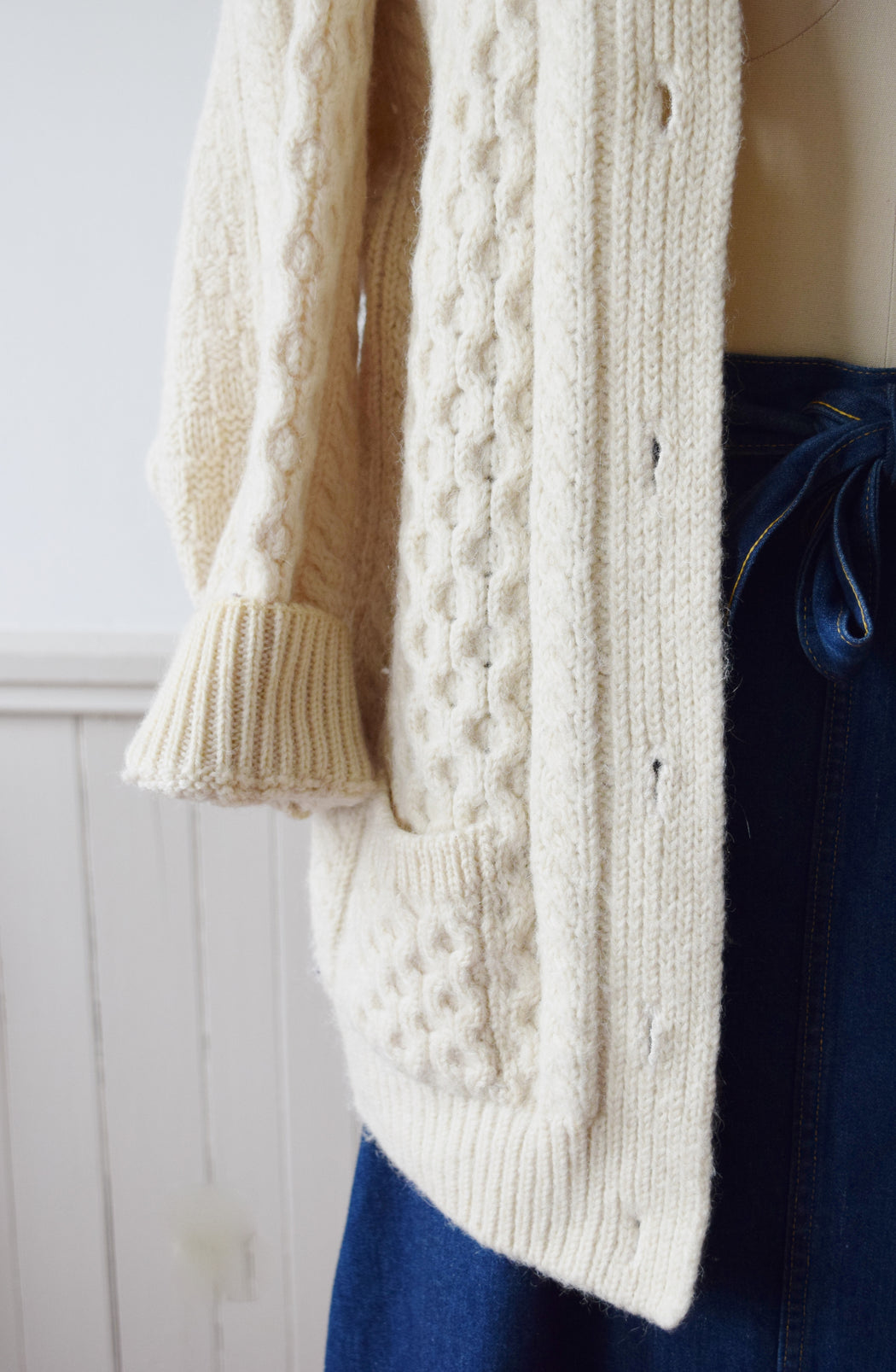 Irish Cable Knit Cardigan | M/L