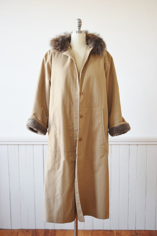 SALE 1970s Bonnie Cashin Fleece Lined Trench | M