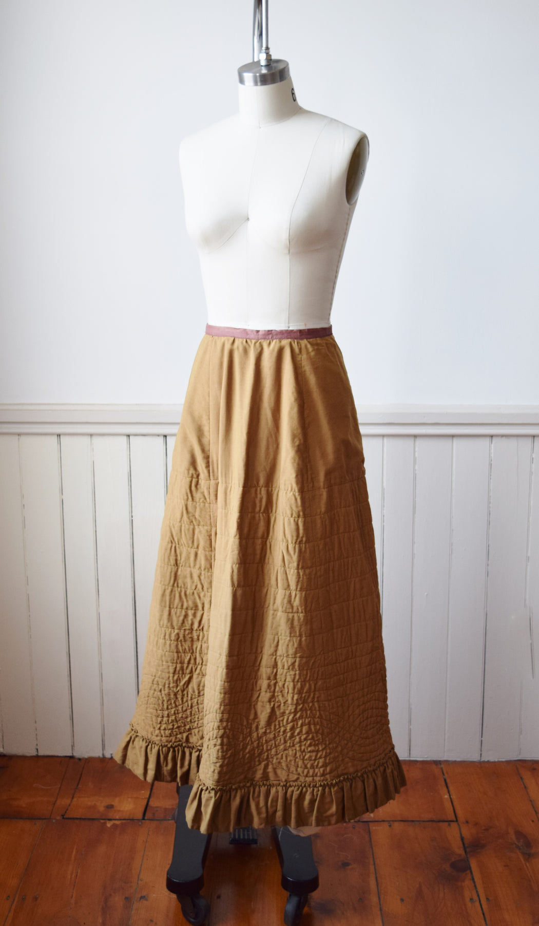 Antique Quilted Petticoat Skirt | S