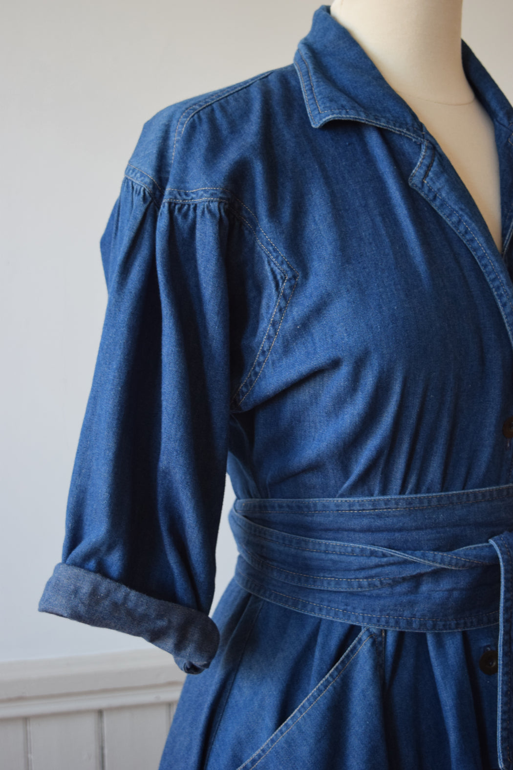 Denim Shirtwaist Dress | 1980s | MP