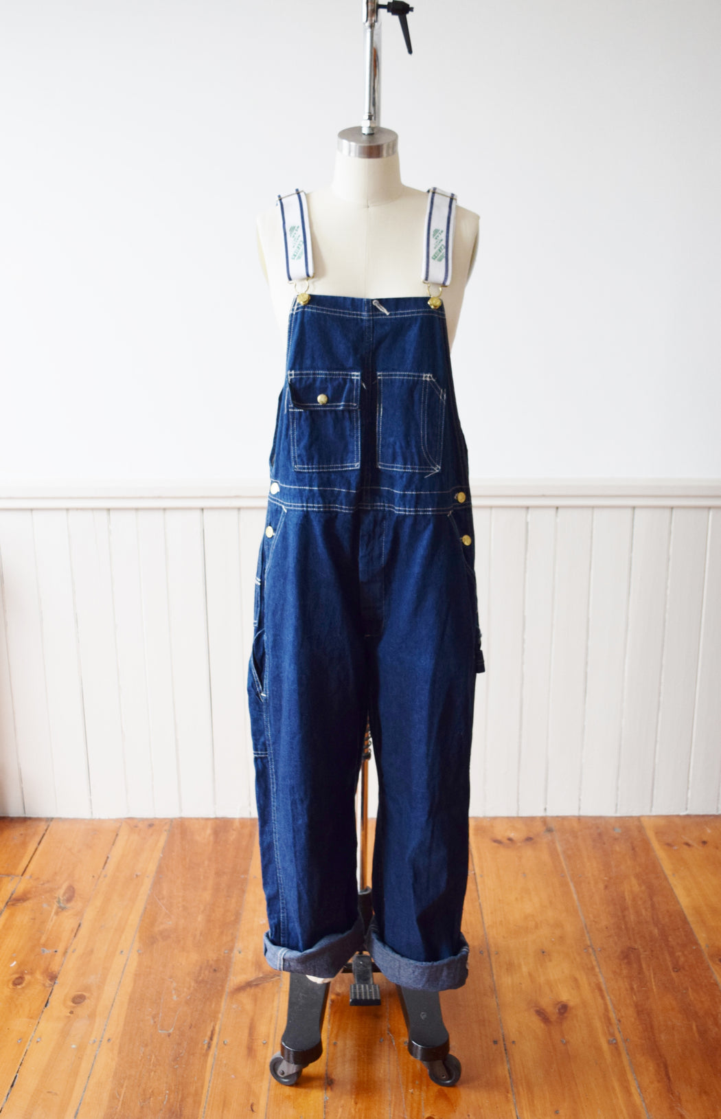 1970s Carter's Dark Wash Denim Overalls | M-M/L