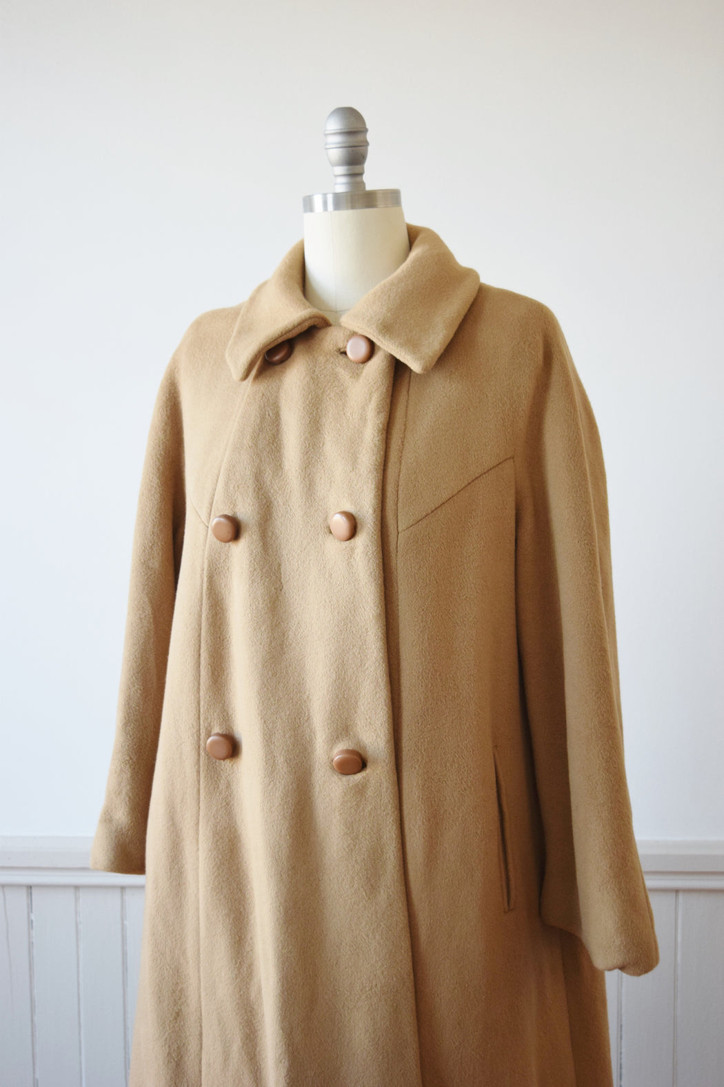 Cashmere Swing Coat | M