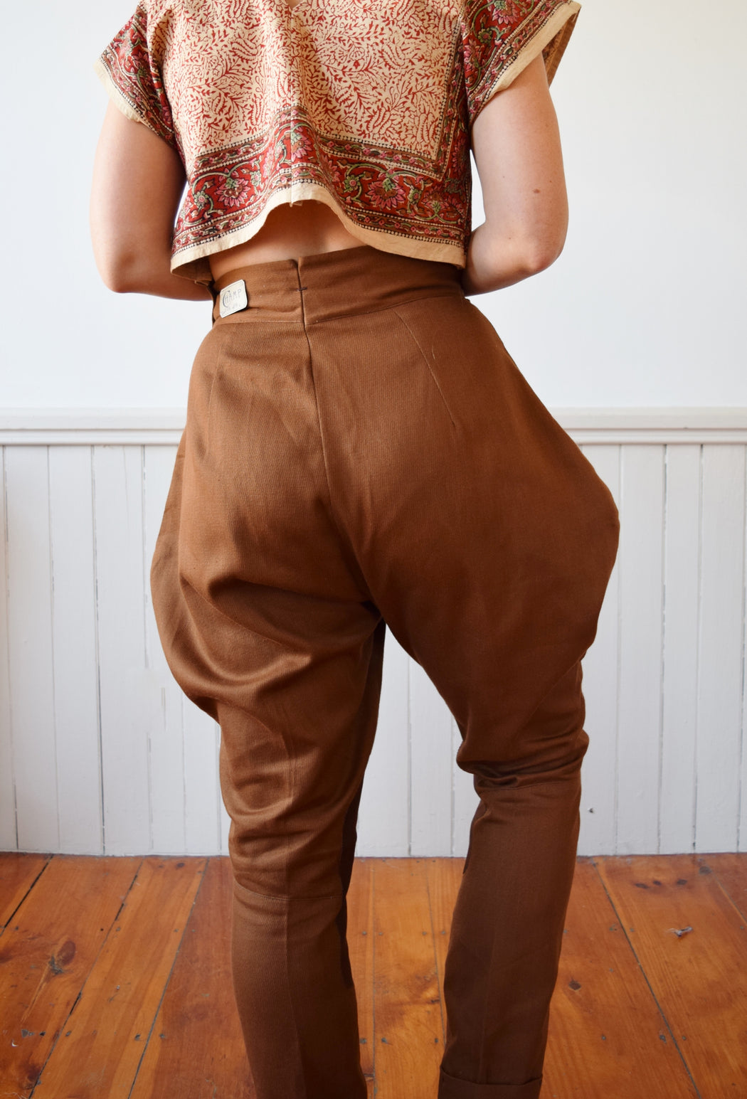 "1940s Jodhpur Style Riding Breeches by Champ | 30"" W"
