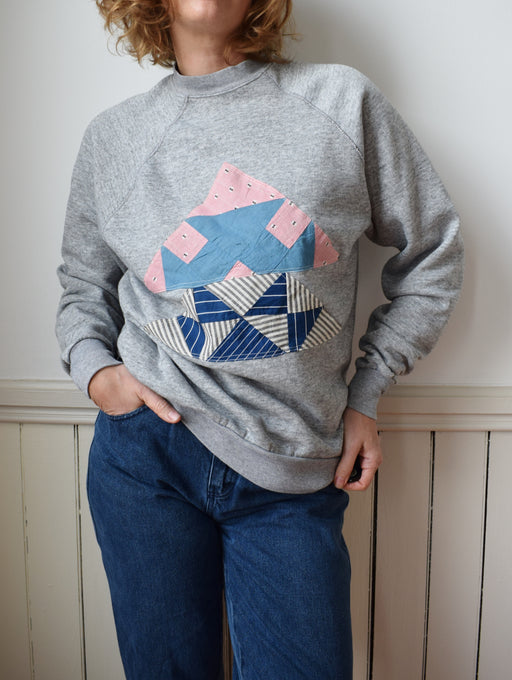 Vintage Raglan with Quilt Square Patch | L/XL