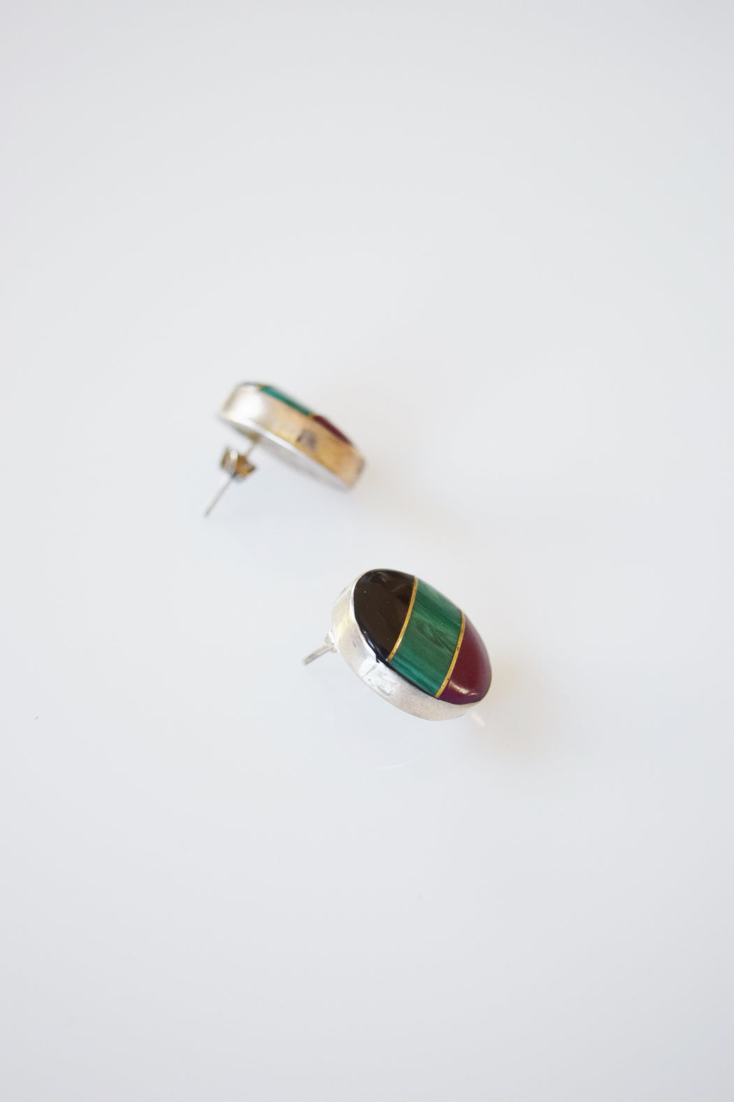 Colorblock Sterling Earrings