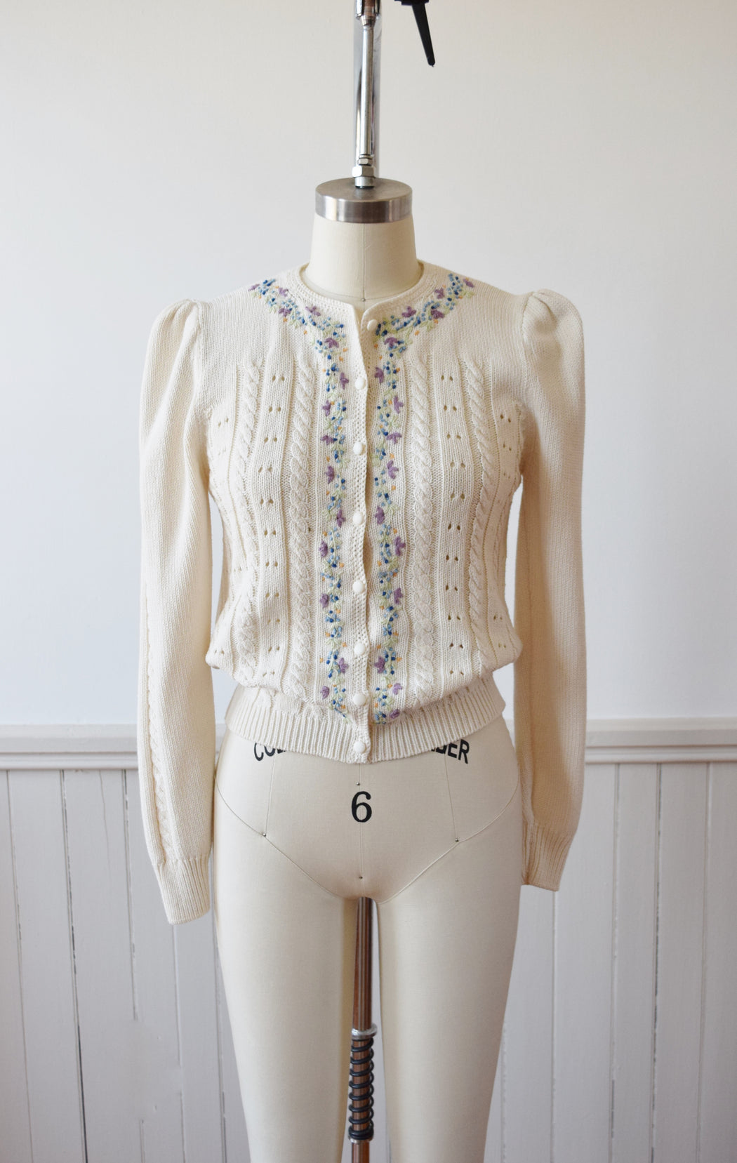 1930s Style Hand Embroidered Cardigan | S