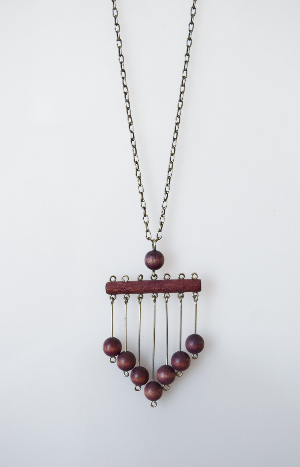 Vintage Kaija Aarikka Kinetic Wooden Necklace