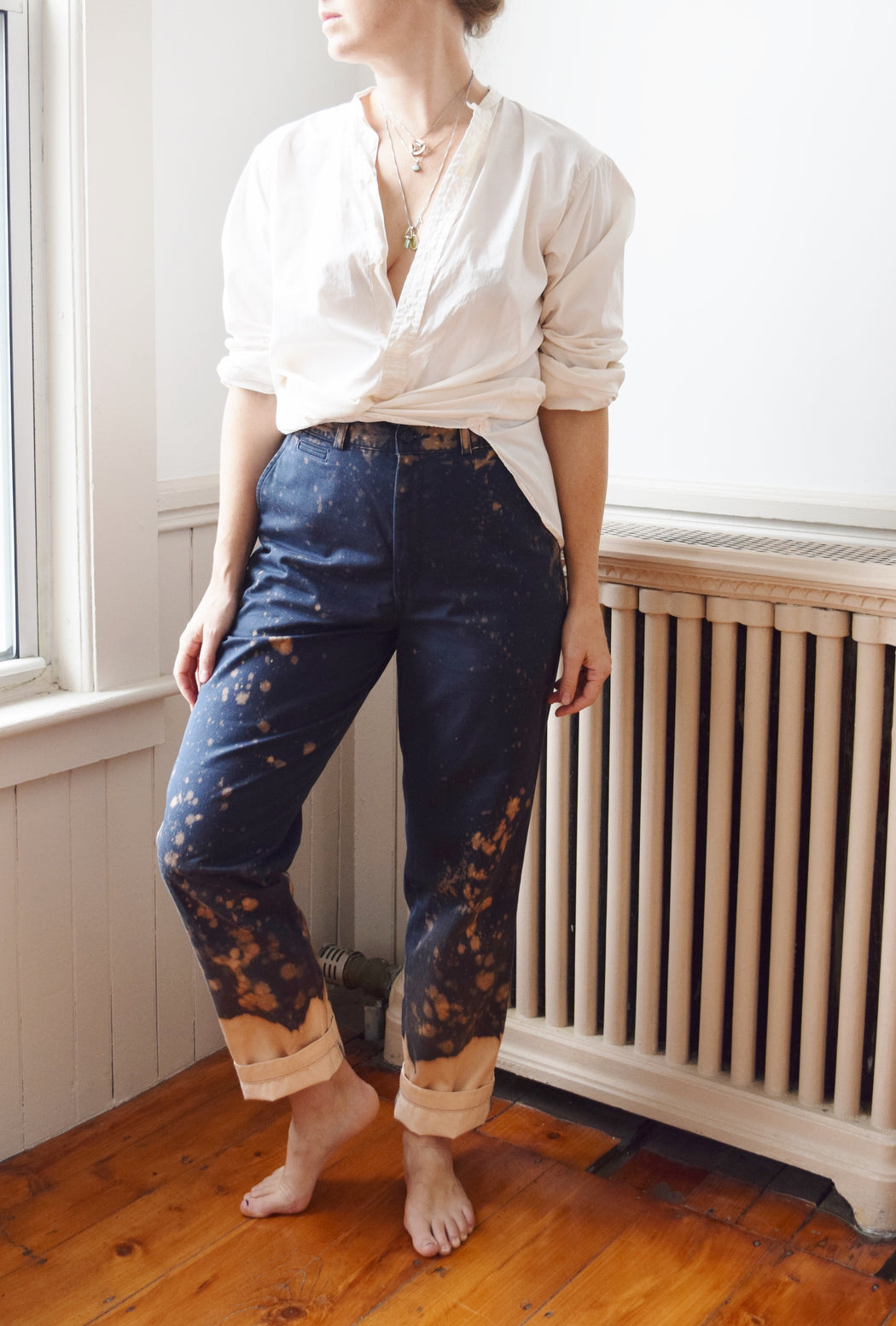 "Vintage Hand-Distressed Splat Pants | 30"" W"