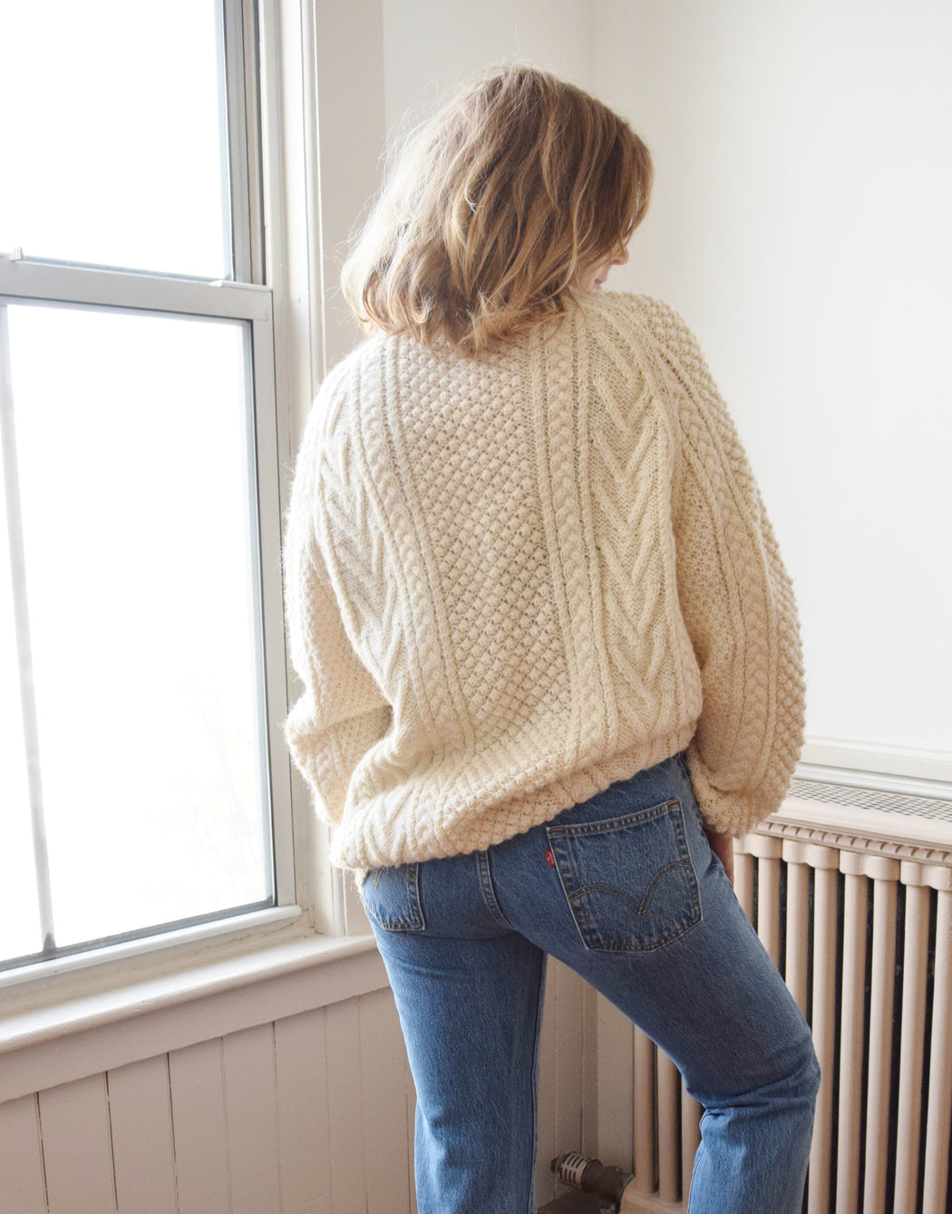 Vintage Hand Knit Fishermans Sweater | M-XL