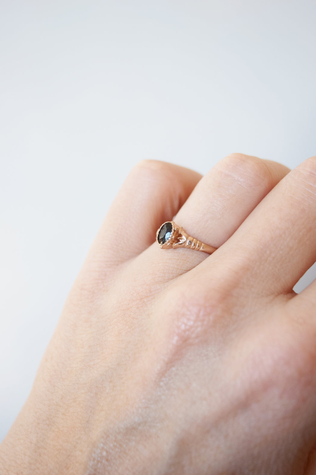 Edwardian Rose Gold and Sapphire Ring