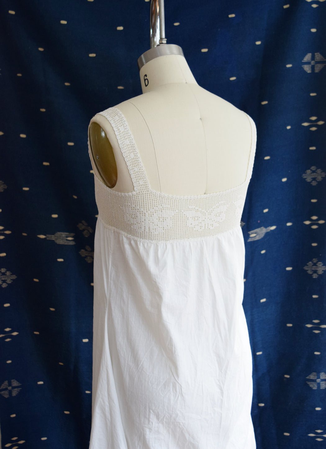 Antique Butterfly Crochet and Cotton Camisole Dress | Undergarment