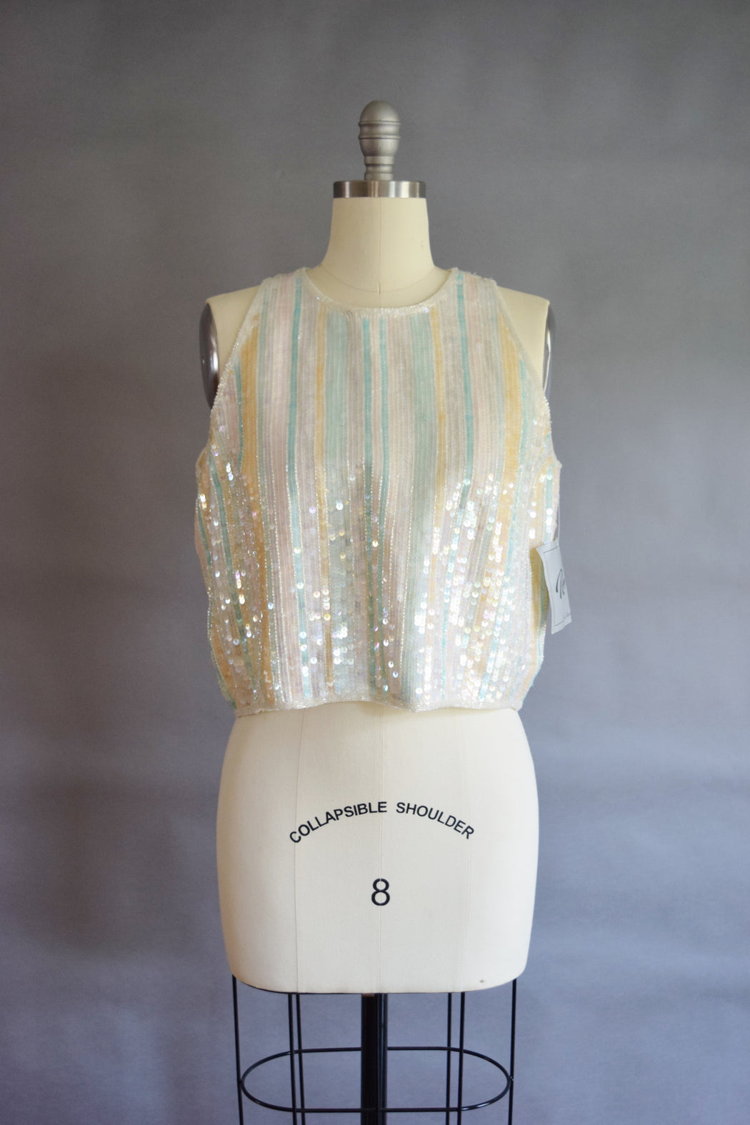 1980s Opalescent Sequined Top
