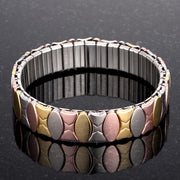 Tritone 13mm Stainless Steel Stretch Bracelet
