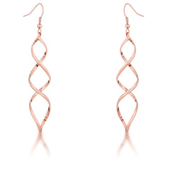 Rose Goldtone Twist Earrings