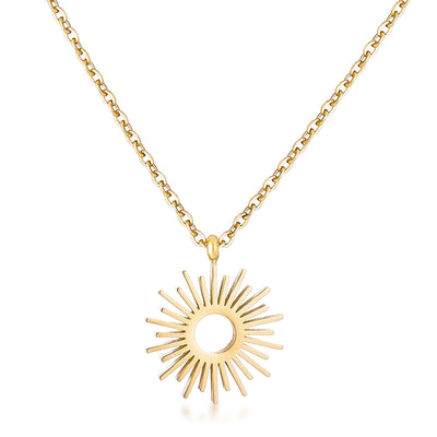 Goldtone Sunburst Necklace - Higher Class Elegance