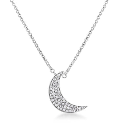 To the Moon and Back CZ Necklace