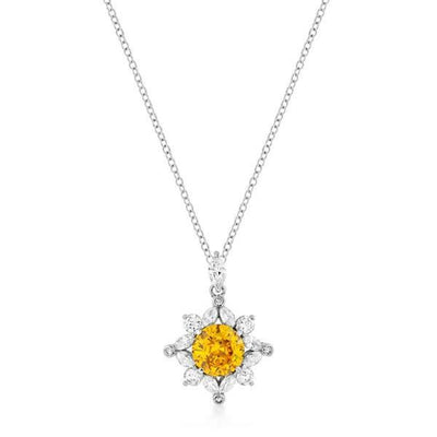 Classic Sun Pendant in Rhodium Plated - Higher Class Elegance
