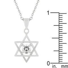 Star of David Solitaire Pendant