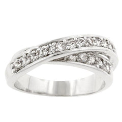 Double Cross Cubic Zirconia Ring - Higher Class Elegance