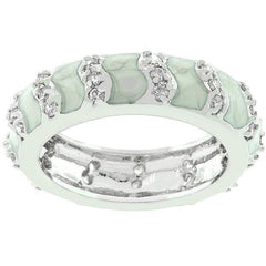 Gray Eternity Enamel Ring - Higher Class Elegance
