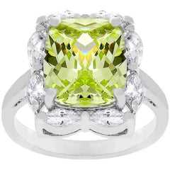 Marquise Framed Apple Green Ring