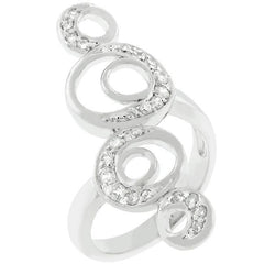 Crescent Moon Circle Ring - Higher Class Elegance