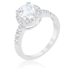 Solitaire Engagement Ring With Pave Halo