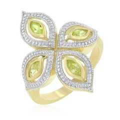 Apple Green Luxe Ring - Higher Class Elegance