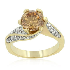 Champagne Twist Engagement Ring - Higher Class Elegance