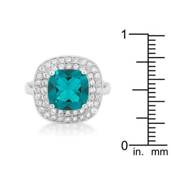 Aqua Bridal Cocktail Ring - Higher Class Elegance