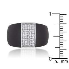 Black Ceramic Cocktail Ring - Higher Class Elegance