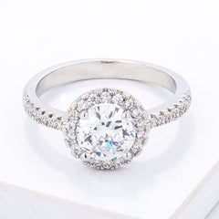 Timeless Pave CZ Halo Ring