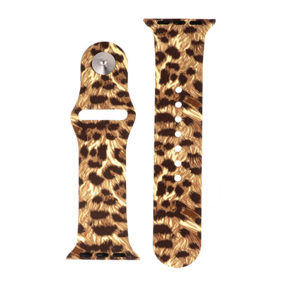 Exotic Cheetah Silicone Sports Watch Band 38mm - Higher Class Elegance