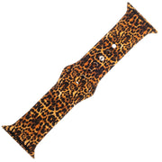 Leopard Print Silicone Sports Watch Band 42mm