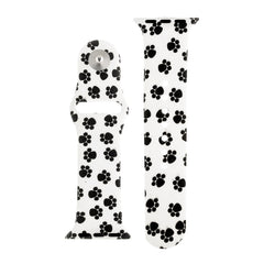 Paw Print Silicone Sports Watch Band 38mm