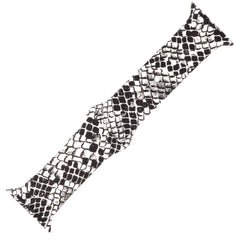 Snake Print Silicone Sports Watch Band 42mm