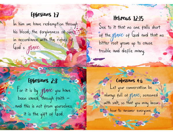 Grace Scripture Cards