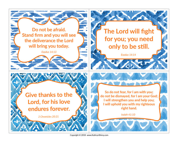 Trusting God Scripture Cards