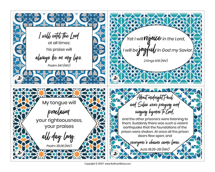 Surrounded - Scripture and Prayer Cards