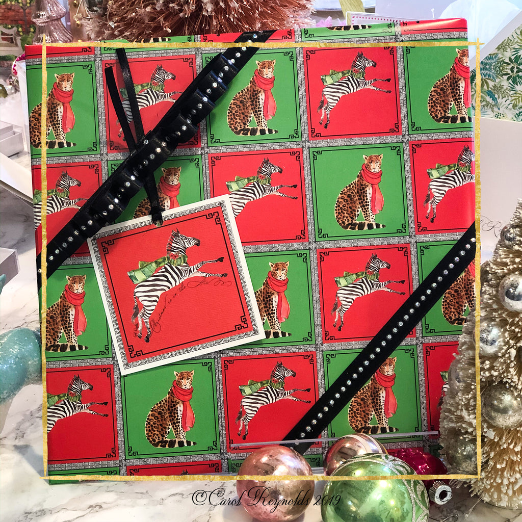 Leopard/Zebra Christmas Wrapping paper