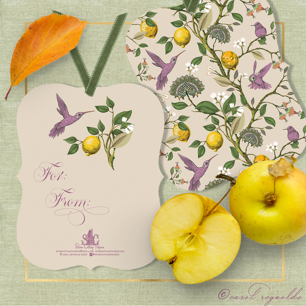 """Autumn Botanical"" Gift Tags"