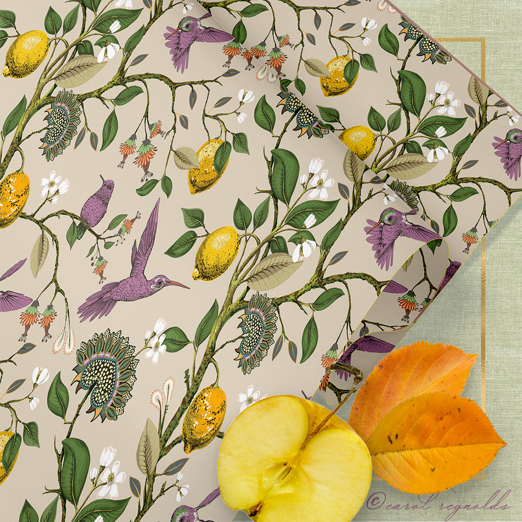 """Autumn Botanical"" Wrapping Paper"