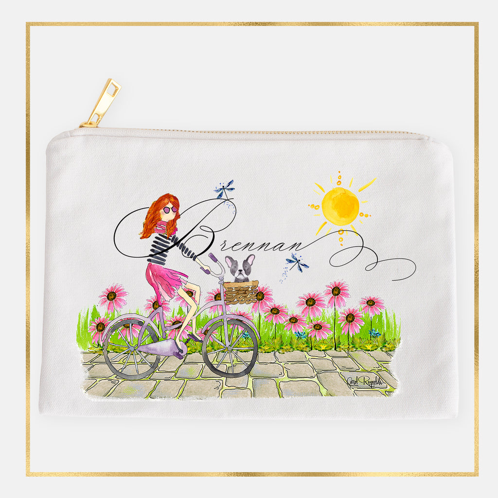 """Pedal Pusher"" Make-Up Bags"