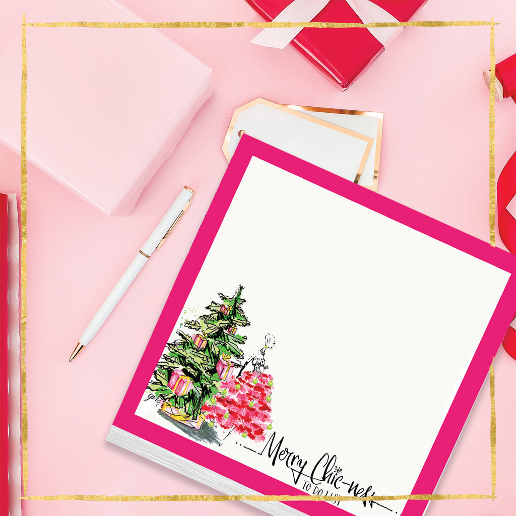 """Merry Chic-ness"" Christmas Notepad"